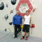 Paul Coaching Tommy Matthews at Bloc Climbing Wall