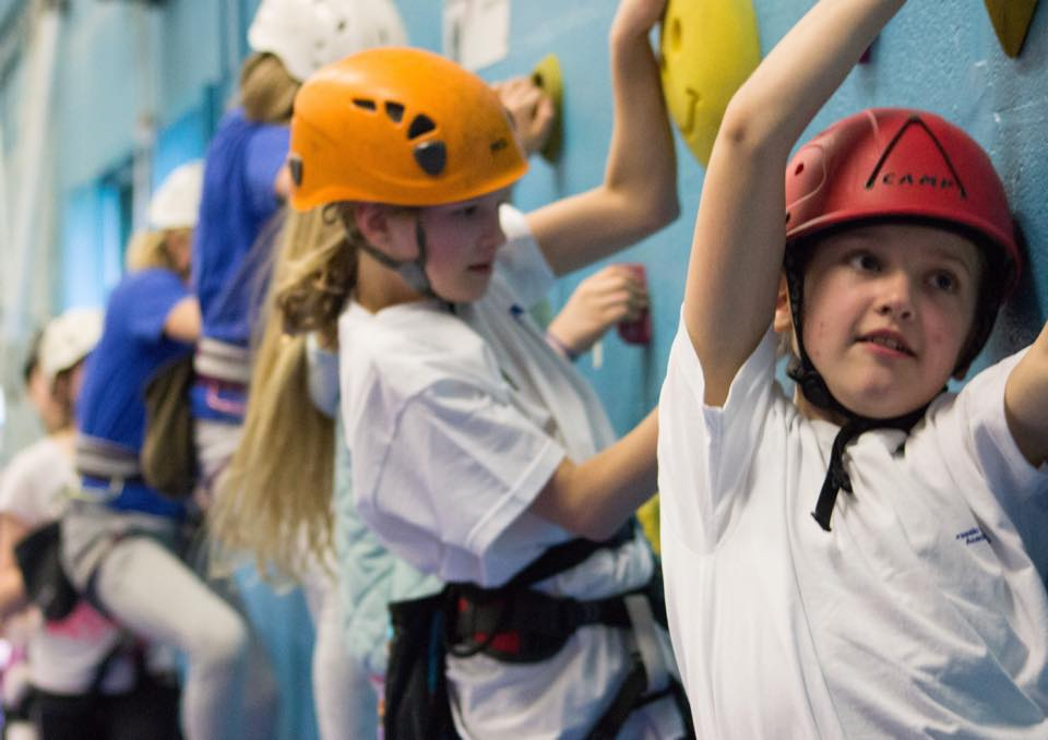 Youngsters at a Climbing Sport Niche to Worldwide wall