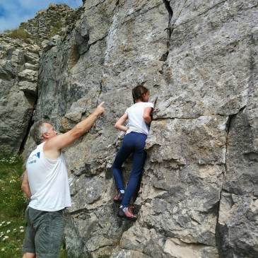 Great Coaching+Motivated Athlete+Motivated Parents=Great Climber