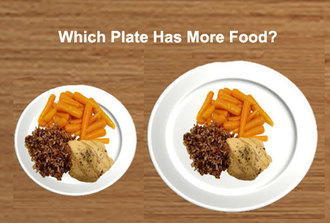 Use a small size plate. Dinner plates have increased massively in diameter over the past 40 years. Large plates encourage you to fill them up with more food ... : healthy dinner plates - pezcame.com