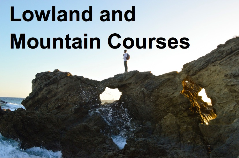 lowland and mountain courses