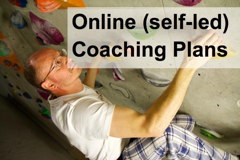 online climbing self led training plans