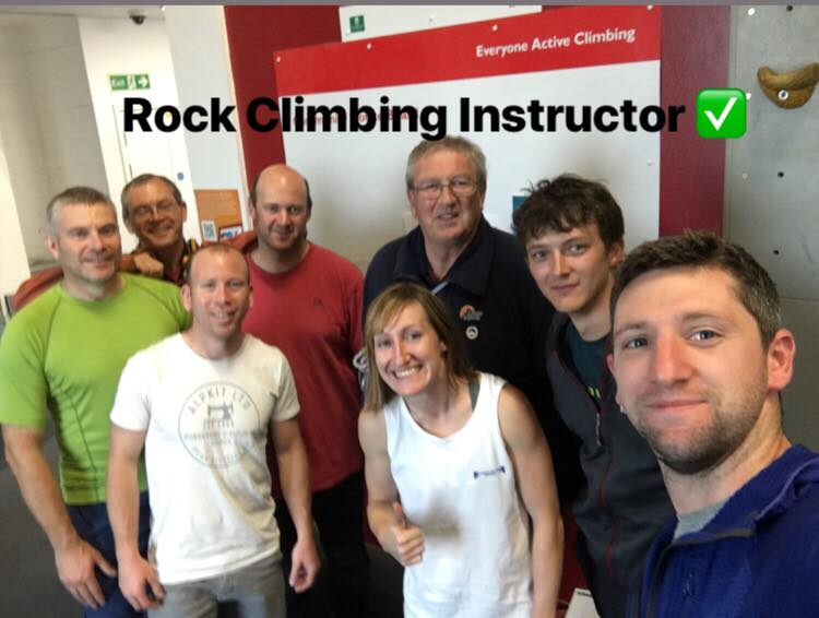 Sarah having passed her Rock Climbing Instructor Award