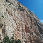 Costa Blanca Climbing Trip - Sophie leading 7a at Toix Far Oeste