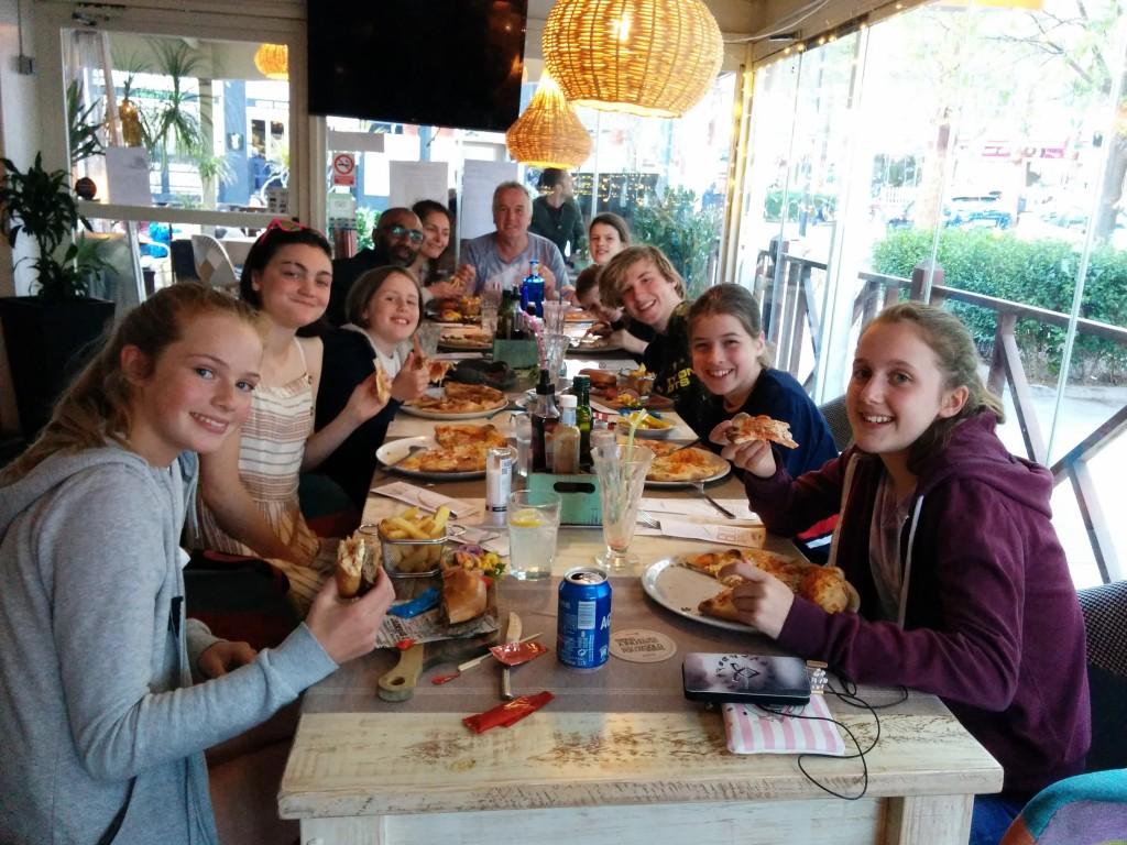 Costa Blanca Climbing Trip - Saturday evening meal in Calpe